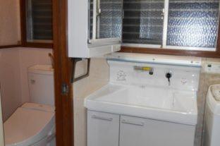 洗面台・トイレの水回りリフォーム工事 施工後